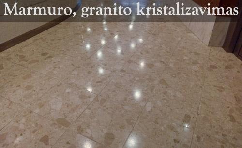 Marmuro, granito kristalizavimas
