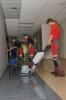 Kietų paviršių valymas, plovimas automatine plovimo mašina