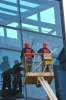 High-rise cleaning and washing works of windows, roofs and facades