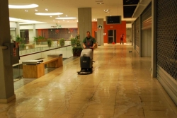 Cleaning, maintenance of large areas and supermarkets